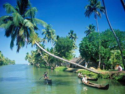 Βάρκες στην Κεράλα της Ινδίας.
