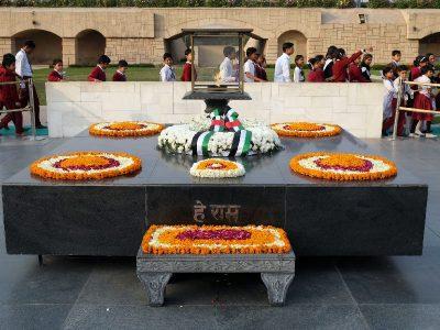 Το μνημείο το Γκάντι στο Ραζγκάτ της Ινδίας.
