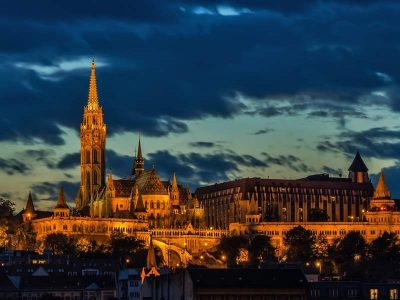 Budapest old town with Matthias Church