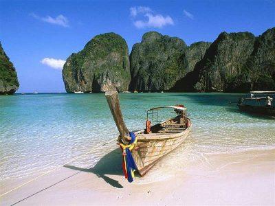 Beach on Phi Phi islands, near Phuket