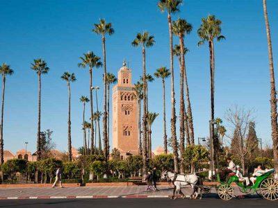 The Koutoubia Mosque in Marrakech.