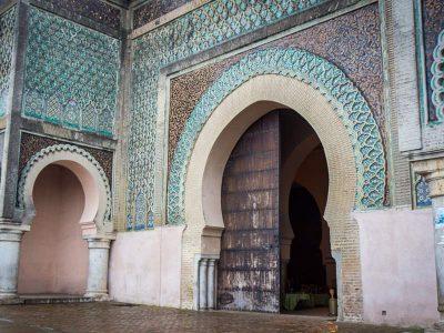 The famous Bab Mansur gate.