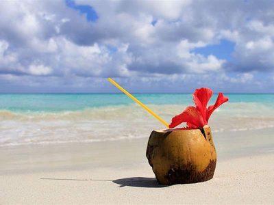 Coconut on a beach in Varadero