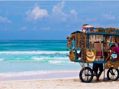 Cuban beach vendors