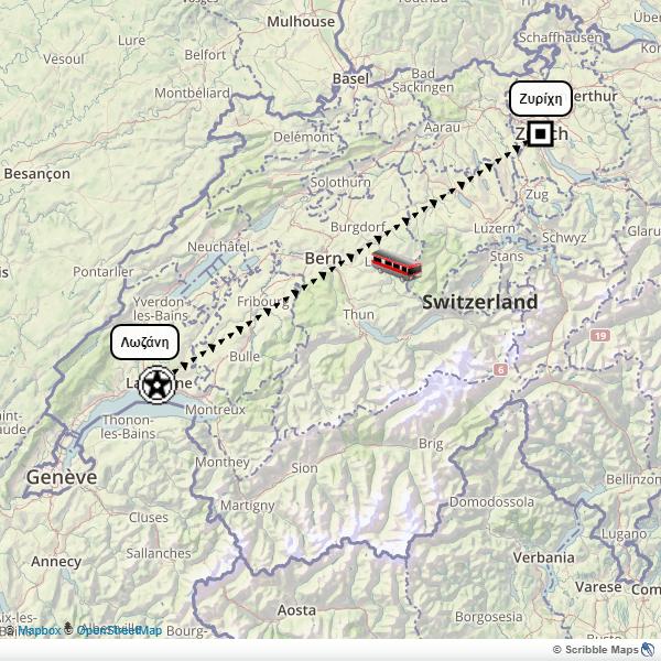Switzerland panorama itinerary