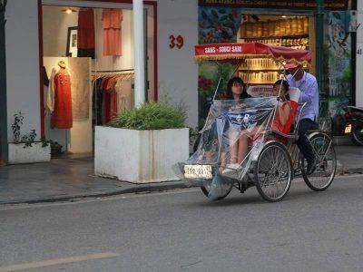 Rickshaw ride in Vietnam