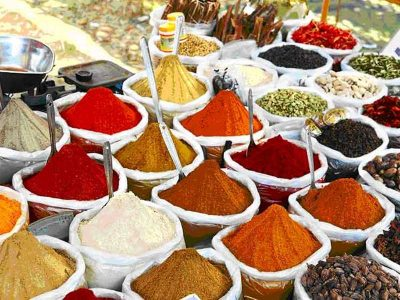 Market for spices, India