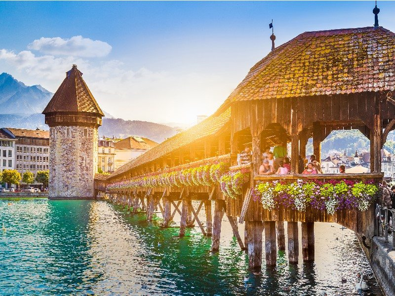Chapel bridge, Lucerne, Switzerland