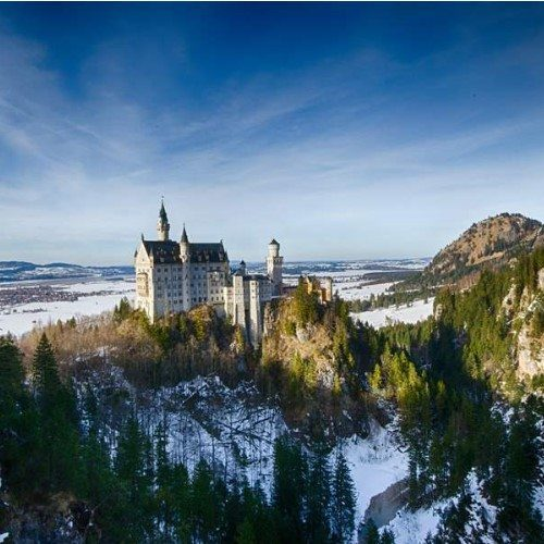 Neuschwanstein Castle near Hohenschwangau, Bavaria, Germany