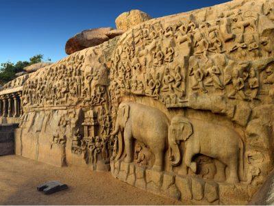 Carving in Mahabalipuram, Tamil Nadu, India
