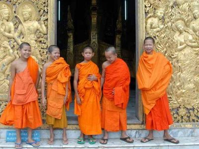 Monks, Wat Xieng Thong, Laos