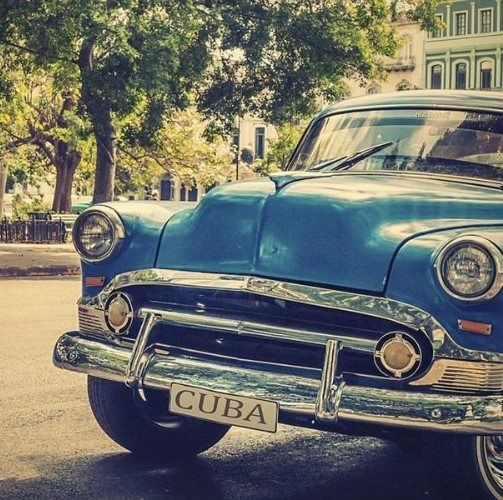 Retro, antique car, Havana, Cuba