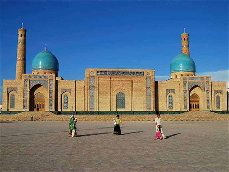Mosque Hazrati Imom And Koran Museum In Tashkent, Uzbekistan