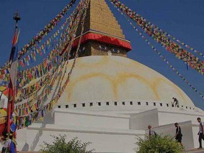 Boudhanath stupa, Kathmandu, Nepal.