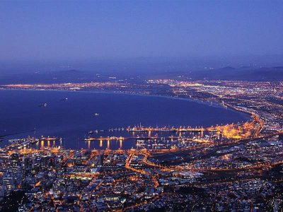 Panoramic picture of Cape Town, South Africa.