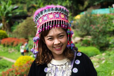 Woman from Chiang Mai with traditional dress, Thailand