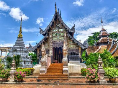 Temple at the old city of Chiang Mai, Thailand.