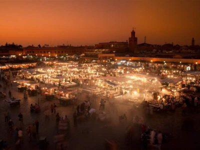The impressive open flea market of Marrakech