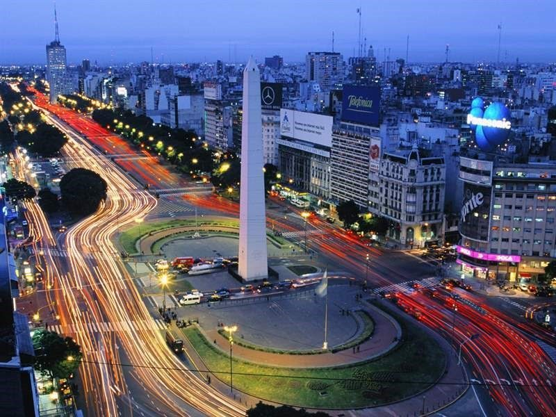 Night panoramic picture of Buenos Aires, Argentina
