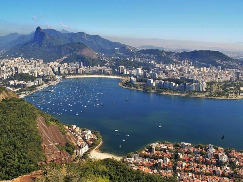 Panoramic picture of Rio de Janeiro, Brazil.