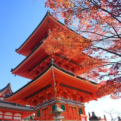 Impressive pagoda, Kyoto, Japan.