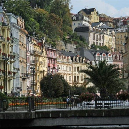 Karlovy Vary or else the spa city of Charles, Czech Republic.