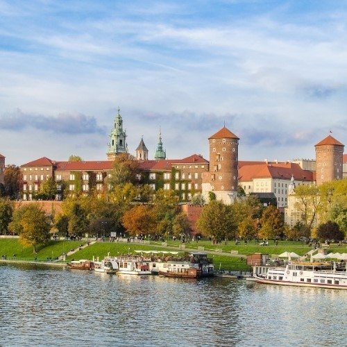 Wawel castle, Krakow, Poland.