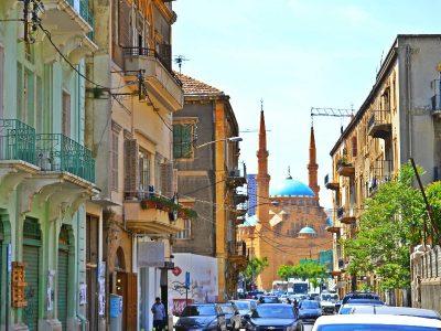 Beirut neighborhood, Lebanon.