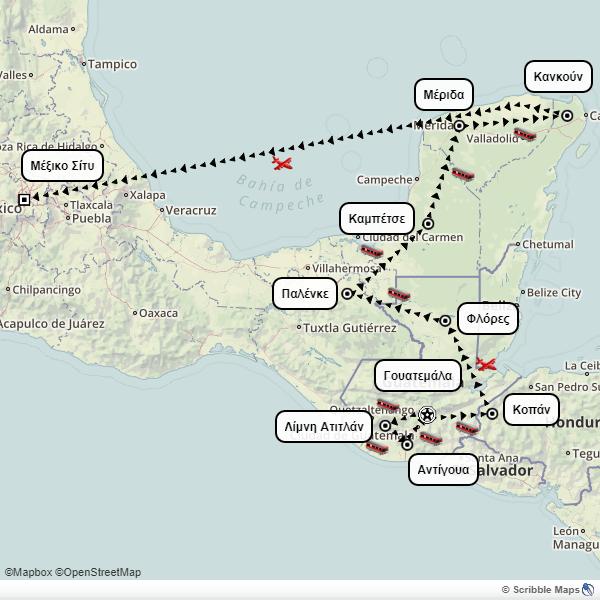Mexico, Guatemala, Honduras itinerary