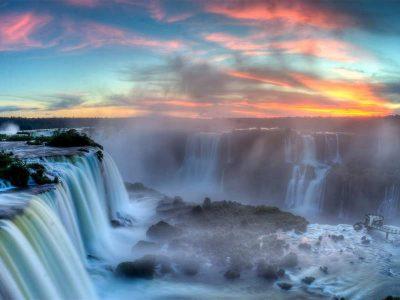 Iguassu falls, Brazil, Argentina, Paraguay
