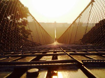 Nepal-Pokhara-Suspension bridge