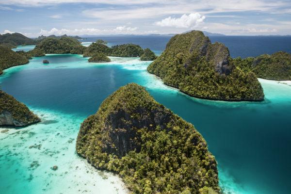 Tropical Lagoon and Limestone Islands in Wayag, Raja Ampat